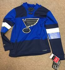 St. Louis Blues NHL Med 10-12 Kids Reebok Face-off Sweatshirt '19 Cup Champs!!!