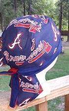 Atlanta Braves Baseball  DU RAG SKULL CAP BANDANA BIKER CHEMO CAP