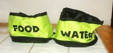 Petmaker Zippered Double PET Food And Water Bowl NEW FREE SHIPPING