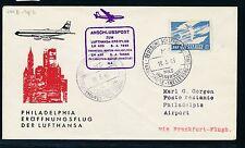 61843) LH FF Frankfurt-filadelfia estados unidos 3.4.65, sou a partir de Suecia barco post