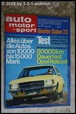 AMS Auto Motor Sport 7/73 Opel Rekord 1700 Sunbeam 1250TC Datsun Cherry