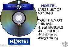 NORSTAR NORTEL 239 MANUALS!! Phone SYSTEM Setup Tech Help Install DVD