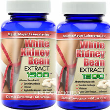 2X White Kidney Bean Extract w/ Garcinia Cambogia 1500mg Weight Loss Fat Burner