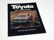 1976 Toyota Corolla Corona Celica Mark II Pickups Land Cruiser Brochure