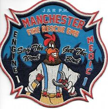 "Manchester  Station-1  ""Get the Bird"", CT (4.75"" x 4.75"" size) fire patch"