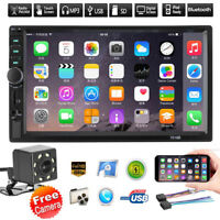 7in Double 2din Car Mp5 Mp3 Player Bluetooth Touch Stereo Radio Fm Usb +camera