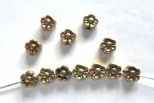 Antique Gold Flower 5.5mm//1.5mm hole Pack of 100 Spacer Beads
