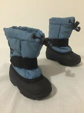 Kamik Kids Made in Canada Winter Snow Boots Blue Felt Liners Toddler Boys Size 5