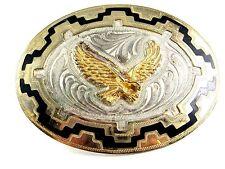 Vintage American Eagle en Vuelo Hebilla de Cinturón Plata 11112013