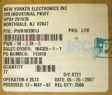 IRC Ceramic Resistor PWR10 3301J PWR-10-3.3K-5