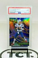 2019 Panini Select NFL Football Sensations Silver Prizm Tom Brady PSA 9 Patriots