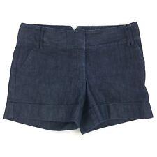"Express Women's Denim Jean Shorts Cuff 4.5"" Cotton Stretch Dark Wash Sz 4 Small"