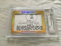 Willie Stargell 2016 Leaf Masterpiece Cut Signature 1/1 signed autographed JSA