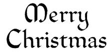 Cling Mounted Rubber Stamp - Merry Christmas gothic 7106