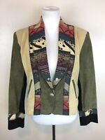 Scully Women's Genuine Leather South Western Blazer Jacket / Women's Size 10