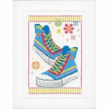 VERVACO 0149911 Sneakers blue team Embroidery Kit counted