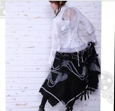 rq-bl long gothic net skirt