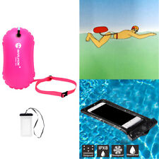 Wild Swimming Buoy Signal Inflatable Buoyancy Device Waterproof Phone Pouch