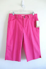 Coldwater Creek Stretch Petite Natural Waist Pink Capri Jeans P14 NWT Retail 49.