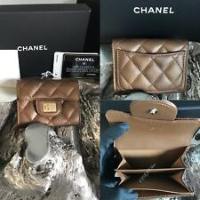 fe8af89441b5 CHANEL 2018 18s Green Caviar Leather Medium Flap Wallet Gold CC Pearly RARE