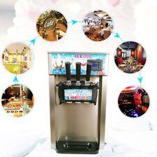 3 Flavor Soft Serve Ice Cream Machine 110v Commercial Ice Cream Maker Mixer New