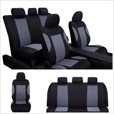 9 Pcs Black&Grey Breathable Washable Autos Front Rear Seats Covers Protector Mat