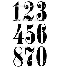 Tim Holtz Rubber Stamps - Mini Numeric - Large Numbers for Signage