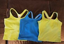 "SM Tank Workout Shirt Fitness Top Women's Built In Bra LOT OF (3) ""THE BODY CO."""