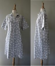 Rosso35 Gray Polka dot Shirt Dress w pockets sz 48 or US 12
