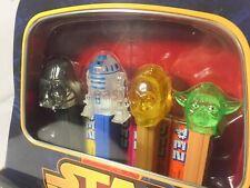 New 1 PEZ Star Wars Gift Tins Darth Vader R2D2 C-3PO Yoda In Display Limited box