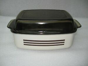 West Bend Slow Cooker Replacement 4 Quart Metal Pan  with amber Glass Lid