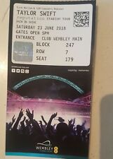 2 Taylor Swift Tickets for This Saturday 23rd June Wembley Arena