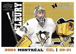 2004 Pacific Montreal International Redemption #8 Marc-Andre Fleury