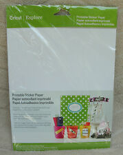 Cricut Printable Sticker Paper 12 Sheets 8.5 x 11 ~ NEW