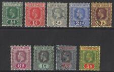VIRGIN ISLANDS SG69/77 1913-9 DEFINITIVE SET DIE I FINE USED