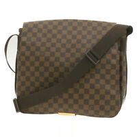 LOUIS VUITTON Damier Ebene Bastille Shoulder Bag N45258 LV Auth pg378