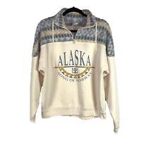 Vintage 90s sz S / M Alaska song of Norway Sweatshirt Graphic Sweater