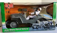 "G. I. Joe Jeep Shore Patrol Vehicle with WWII 12"" Sailor SP Action Figure"