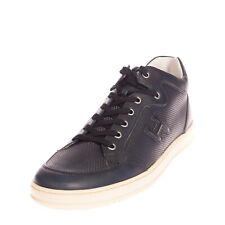 RRP €280 HOGAN Leather Sneakers EU 43 UK 9 US 10 Openwork Embossed Logo Laces
