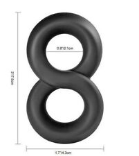 Mens Cock Ring Male Sex Toy Penis Ring Stretchy Figure 8 Black