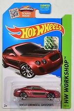 HOT WHEELS 2015 HW WORKSHOP BENTLY CONTINENTAL SUPERSPORTS RED FACTORY SEALED
