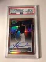 2020 Donruss Optic Jasson Dominguez Auto RC PSA 10 Rookie Autograph /75 Yankees