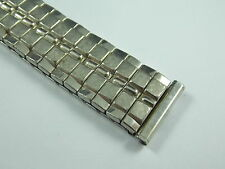 "Vintage White Gold Filled Speidel Expansion watch band 17.5mm / 11/16"" Straight"
