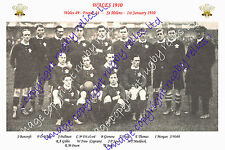 WALES (v France) 1910 INTERNATIONAL RUGBY TEAM PHOTOGRAPH