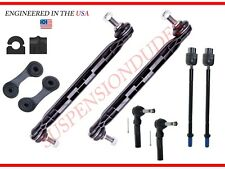 10PC Front/Rear Sway Bar Links Bushings Tie Rods for 2011-2012 Chevrolet Malibu