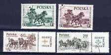 Chevaux Pologne (15) série complète de 4 timbres oblitérés