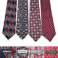 LOT 4 Ties Ashberry Essentia Van Heusen Spencer Lowe Red Elegant Office Silk Tie