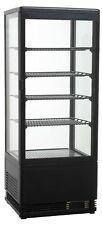 Mini-Kühlvitrine 98 - schwarz  - Aufsatzkühlvitrine