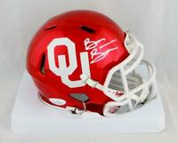 Brian Bosworth Signed OU Sooners Riddell Speed Chrome Mini Helmet - JSA W Auth