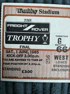 1985 Freight River Trophy Final Ticket - Wigan vs Brentford
